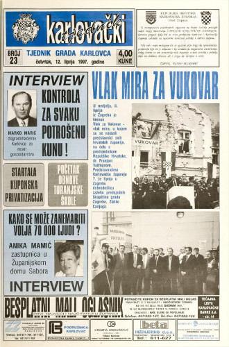 Karlovački tjednik: 1997 • 23