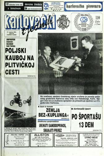 Karlovački tjednik: 1994 • 29