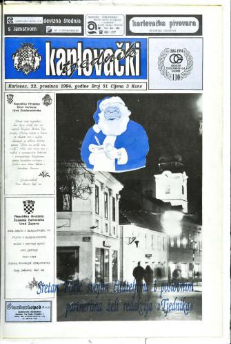 Karlovački tjednik: 1994 • 51