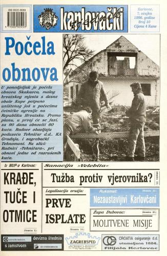 Karlovački tjednik: 1996 • 10