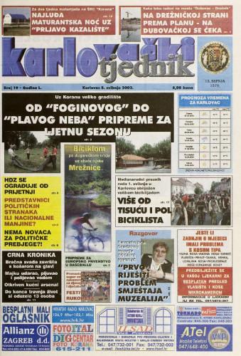 Karlovački tjednik: 2003 • 19