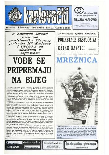 Karlovački tjednik: 1995 • 31