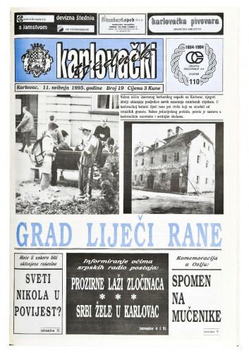 Karlovački tjednik: 1995 • 19