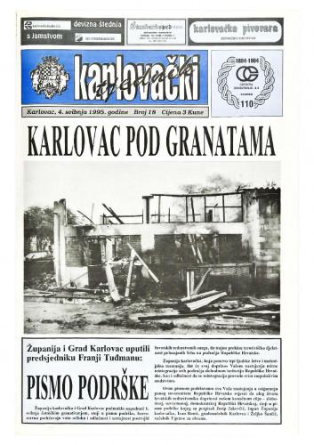 Karlovački tjednik: 1995 • 18