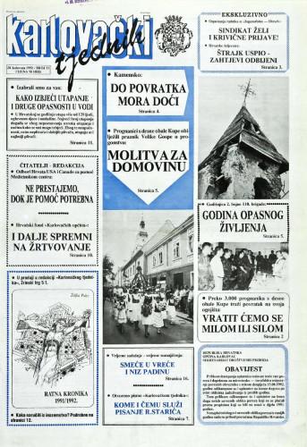 Karlovački tjednik: 1992 • 33