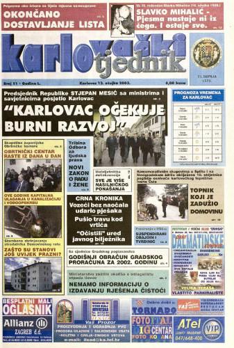 Karlovački tjednik: 2003 • 11