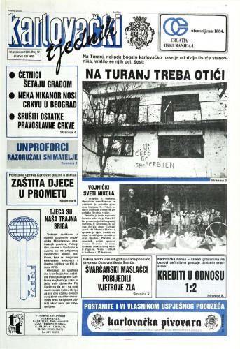 Karlovački tjednik: 1992 • 49