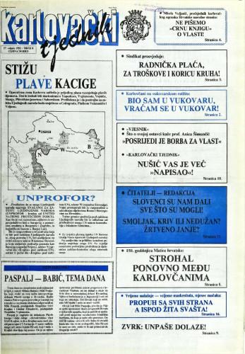 Karlovački tjednik: 1992 • 8