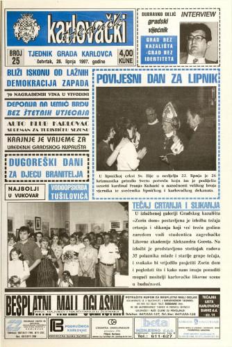 Karlovački tjednik: 1997 • 25