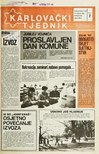 Karlovački tjednik: 1987 • 2