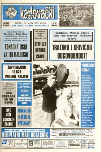 Karlovački tjednik: 1998 • 11