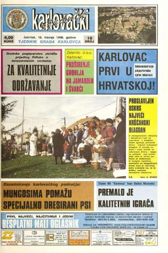 Karlovački tjednik: 1998 • 16