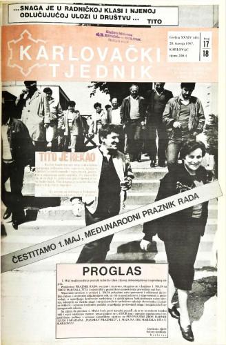 Karlovački tjednik: 1987 • 17/18