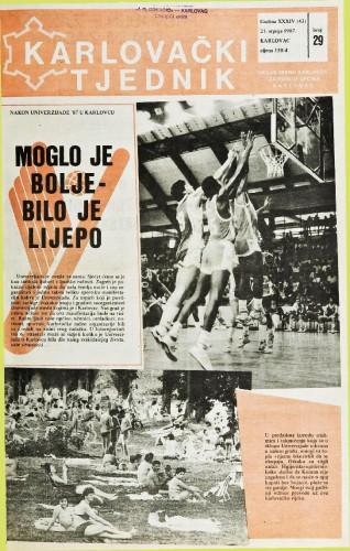Karlovački tjednik: 1987 • 29
