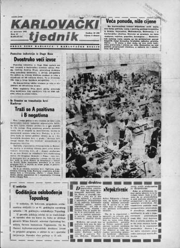 Karlovački tjednik: 1982 • 32