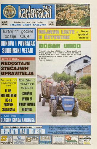 Karlovački tjednik: 1998 • 39