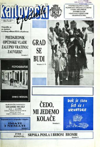Karlovački tjednik: 1992 • 6