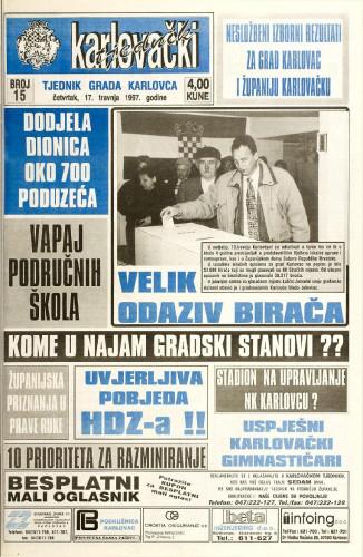 Karlovački tjednik: 1997 • 15