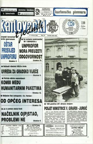 Karlovački tjednik: 1994 • 19