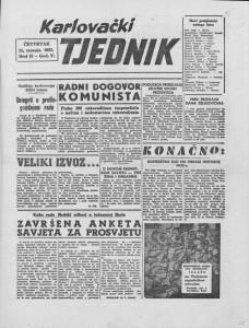 Karlovački tjednik: 1957 • 15