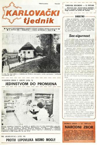 Karlovački tjednik: 1988 • 29
