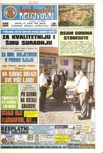 Karlovački tjednik: 1999 • 26