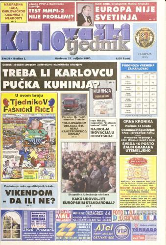 Karlovački tjednik: 2003 • 9