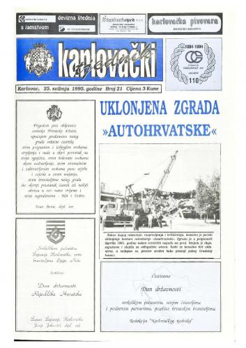 Karlovački tjednik: 1995 • 21