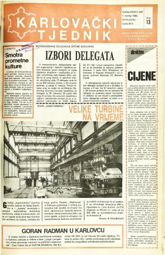 Karlovački tjednik: 1986 • 13