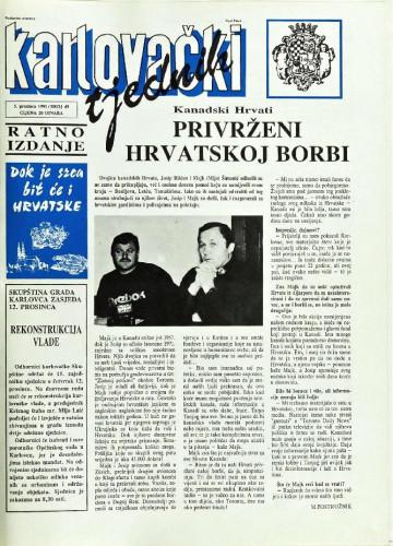 Karlovački tjednik: 1991 • 49