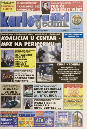 Karlovački tjednik: 2003 • 14