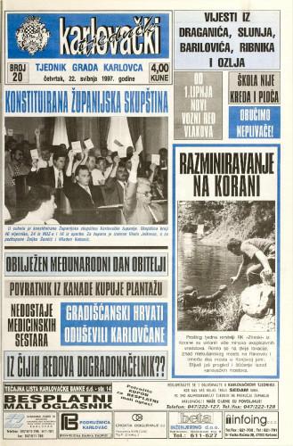 Karlovački tjednik: 1997 • 20
