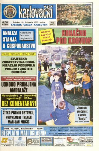 Karlovački tjednik: 1998 • 43