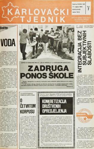Karlovački tjednik: 1987 • 7