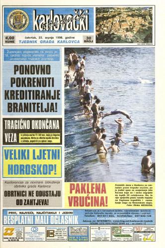 Karlovački tjednik: 1998 • 30