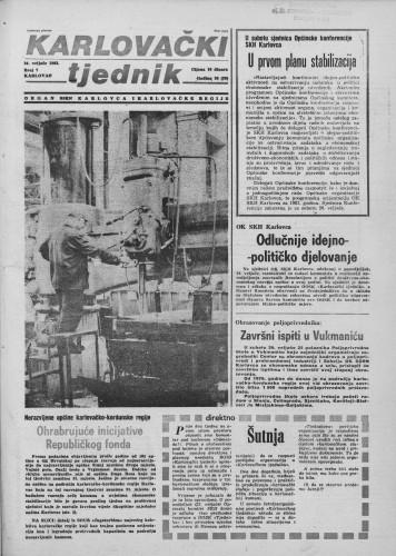 Karlovački tjednik: 1983 • 7