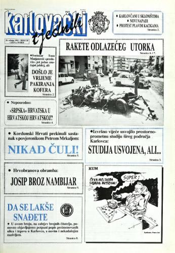 Karlovački tjednik: 1992 • 20