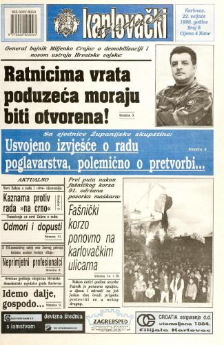 Karlovački tjednik: 1996 • 8