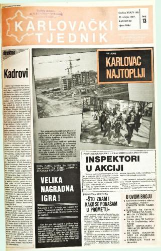 Karlovački tjednik: 1987 • 13