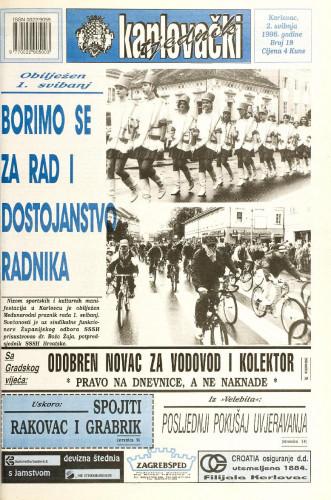 Karlovački tjednik: 1996 • 18