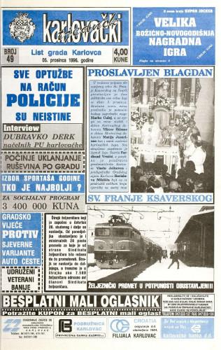 Karlovački tjednik: 1996 • 49