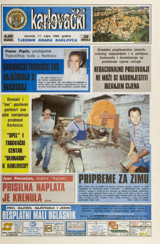 Karlovački tjednik: 1998 • 38