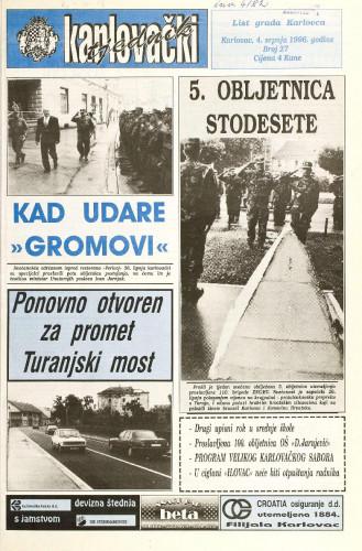 Karlovački tjednik: 1996 • 27
