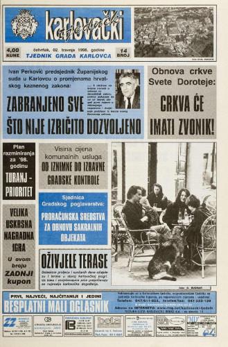 Karlovački tjednik: 1998 • 14