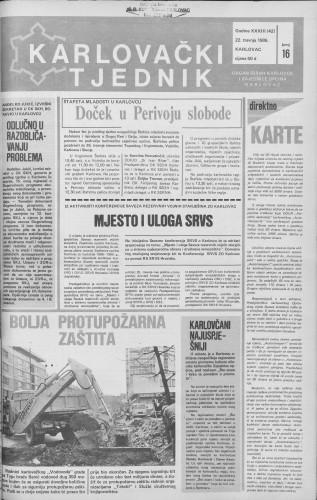 Karlovački tjednik: 1986 • 16