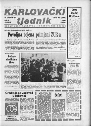 Karlovački tjednik: 1978 • 35