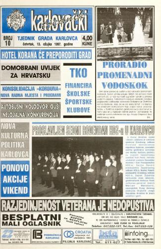 Karlovački tjednik: 1997 • 10