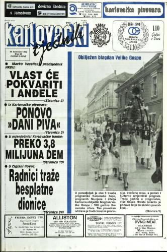 Karlovački tjednik: 1994 • 33