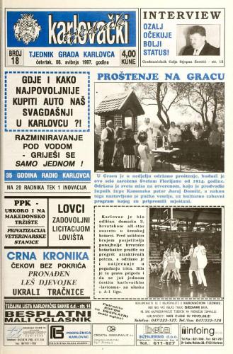 Karlovački tjednik: 1997 • 18