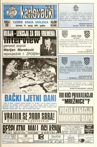 Karlovački tjednik: 1997 • 30